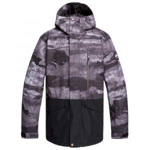 Quiksilver Mission-Veste de Ski/Snowboard pour Homme, Black Matte Painting, FR (Taille Fabricant : XL)