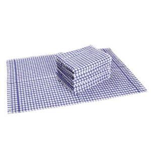Paquet de 6 essuie-mains textile carreaux en coton