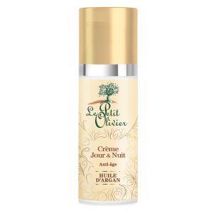 Le Petit Olivier Crème anti-âge jour & nuit à l'huile d'argan - le tube de 50 ml