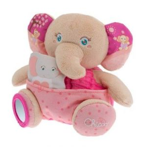Chicco Peluche Soft Cuddles : éléphant rose