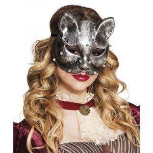 Loup chat argenté adulte Steampunk