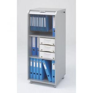 Simmob Classeur GORA mobile Alu, H117xL47xP51cm - Classeur GORA mobile alu, H117xL47xP51cm, 3 tiroirs, 3 niveaux dont 1 pour dossiers suspendus