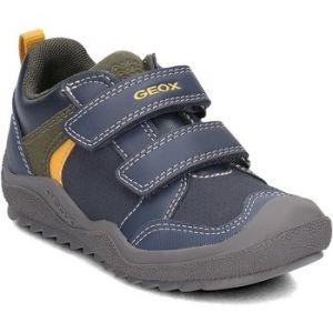 Geox J Artach A, Sneakers Basses Garçon, Bleu (Navy/Yellow C0657), 31 EU
