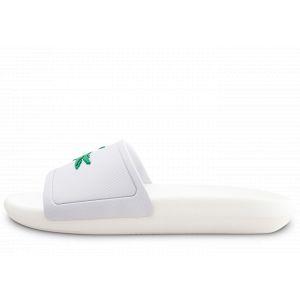 Lacoste Croco Slide 119 Blanc Vert