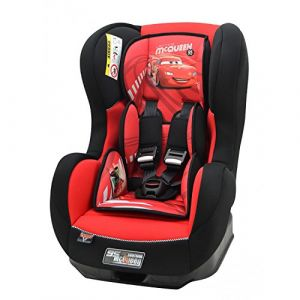 mycarsit Siège auto Disney Cars groupe 0+/1 avec protections latérales, cale tête et assise rembourrés