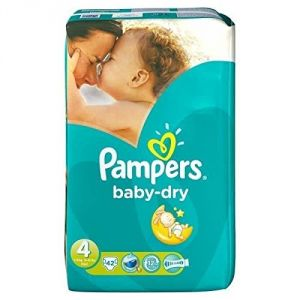Pampers Baby Dry taille 4 (7-18 kg) - 42 couches