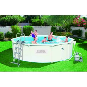 Bestway Kit Piscine Acier steel wall pools D466cm