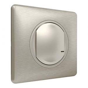 Legrand Prise connectée Interrupteur sans fil supplémentaire pour installation connectée Céliane with Netatmo avec plaque Métal Titane