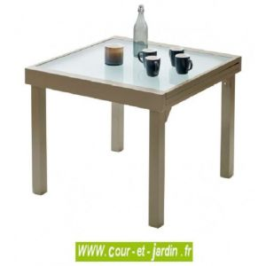 Wilsa Table de jardin Modulo 4/8 - 90/180 taupe