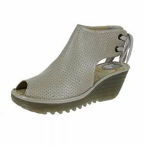 Fly London Ypul799fly, Sandales Bout Ouvert Femme, Argent (Silver), 38 EU