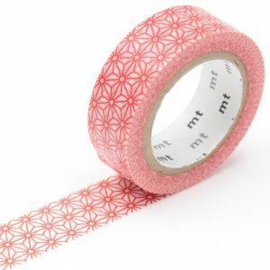 Masking tape mt Fleurs stylisées rouge