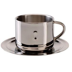 Berghoff Tasse et sous-tasse à café en inox (15 cl)
