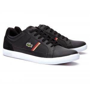 Lacoste Europa 319 1 SMA, Baskets Hommes, Noir (Black/Red 1b5), 46 EU