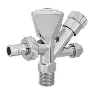 Invena Sortie x 3/4 de machine à laver 1/2 entrée x sortie du robinet m10 vanne de connexion chrome