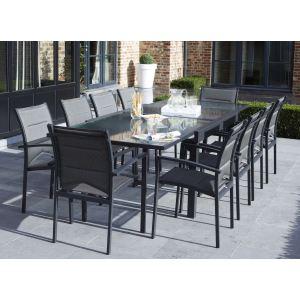 Alpina Garden Modulo 10 - Ensemble de jardin en aluminium avec 10 fauteuils