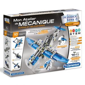 Clementoni Mon atelier de mécanique Avions et hélicoptères