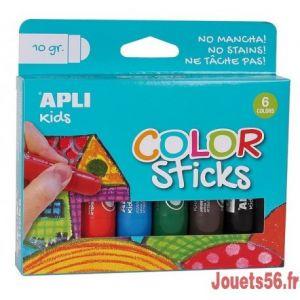 APLI Gouache Solide - 6 Crayons Tubes (10g) - Agipa