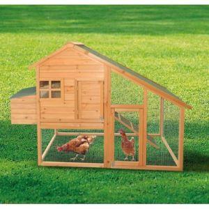 Foresta PO 2020S - Poulailler standard 2 à 3 poules toit bitumé 2 pentes