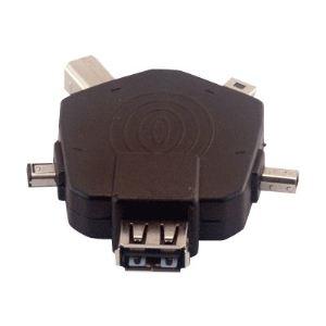 MCL Samar USB2-5A - Adaptateur monobloc multi-connecteurs USB A femelle / 3 x Mini USB + B