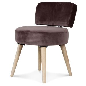 Fauteuil velours chataigne Grand Nord
