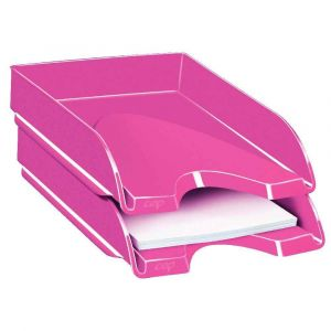 CEP Office Solutions Gloss Corbeille à courrier Rose Pepsy
