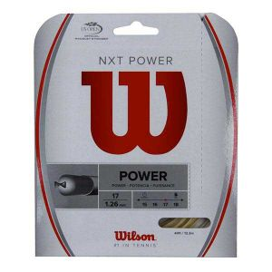 Wilson Ficelle Nxt Power 12 M - Natural - Taille 1.30 mm