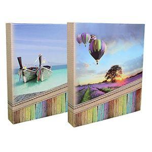 Panodia Lot de 2 Albums Photos classeurs Explore à Pochettes pour 400 Photos 11,5x15 cm