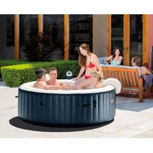 Intex Spa Gonflable PureSpa HWS 1100 avec Bulles 6 places Rond 2,16 x71