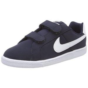 Image de Nike Court Royale (PSV), Chaussures de Tennis Garçon, Bleu (Obsidian/White 400), 33 EU