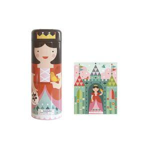 Petitcollage Princesse château - Puzzle tirelire 64 pièces
