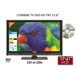 Antarion Télévision HD LED + DVD 39.6 cm pour camping car 220V/12V/24V
