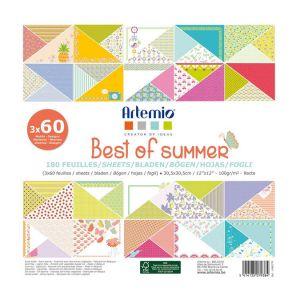 Artémio Bloc de feuille Best of Summer - 30,5 x 30,5 cm 180 feuilles