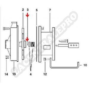Procopi 976004 - Joint torique d'axe moteur surpresseur Aquaboost
