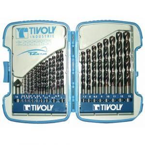 Tivoly Coffrets de 25 mèches acier Bumper B TZX, 2 à 13 mm + fraise