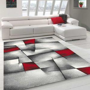 Tapis salon noir et rouge - Comparer 123 offres
