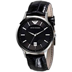 Emporio Armani AR2411 - Montre pour homme avec bracelet en cuir