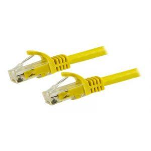 StarTech.com Câble de réseau - RJ-45 (M) 50 cm UTP CAT 6 sans crochet, bloqué jaune