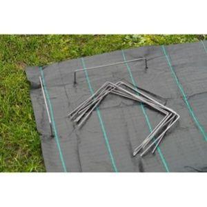 Agrafes métalliques pour fixation au sol Ø4 mm H20 x 25 cm
