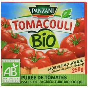 Panzani Tomacouli Bio purée de tomates issues de l'agriculture biologique - La brique de 250g
