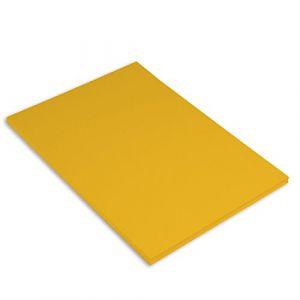 Canson Iris Vivaldi Papier couleur A4 Lisse 185g/m² 21 x 29,7 cm Jaune d'or Lot de 50