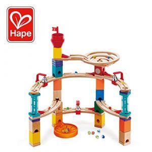 Hape E6019-Jeux de Construction et Circuit de Billes Castle Escape Jouets en Bois, E6019, Multicolore