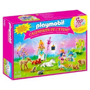 Playmobil 5492 - Calendrier de l'avent : Fées avec licorne et animaux de la forêt