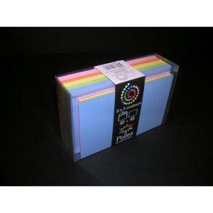 Clairefontaine 20801C - Coffret de 40 enveloppes 90x140 + 40 cartes 82x128 (5 couleurs Printemps)