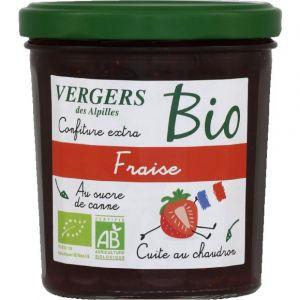Vergers des Alpilles Confiture extra fraise au sucre de canne bio