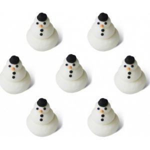 7 petits bonhommes de neige en sucre (1.5 cm)