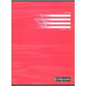 Calligraphe 7555C - Cahier Dessin Ligne 7000 240x320, 96p./48 feuilles 120 g/m² piquées, uni