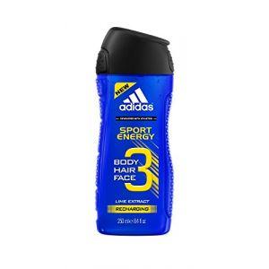 Adidas Gel douche Sport Energy 3 Body Hair Face
