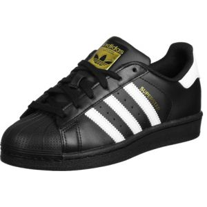 Adidas Superstar, Baskets Basses Homme, Noir (Core Black/FTWR White/Core Black), 44 2/3 EU