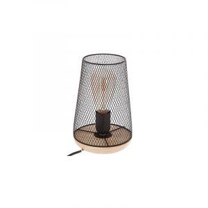 """Lampe en Métal & Bois """"Industriel"""" 23cm Noir Prix"""