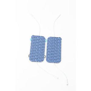 Cefar 42200 - 2 électrodes rectangulaires à fil 2 sorties 50 x 100 mm